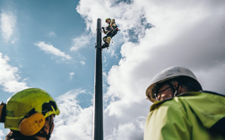 Markedets mest miljøvennlige kraftstolper på Hetlandsheia